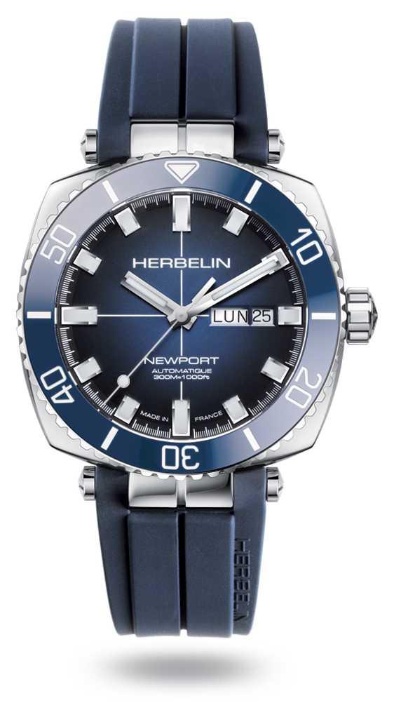 Michel Herbelin Newport Diver Blue Rubber Strap 1774/BL15CB