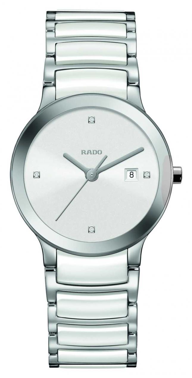 RADO Women's Quartz Centrix White Ceramic R30928722