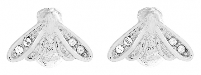 Olivia Burton Glitter Bee Silver Stud Earrings OBJAME266