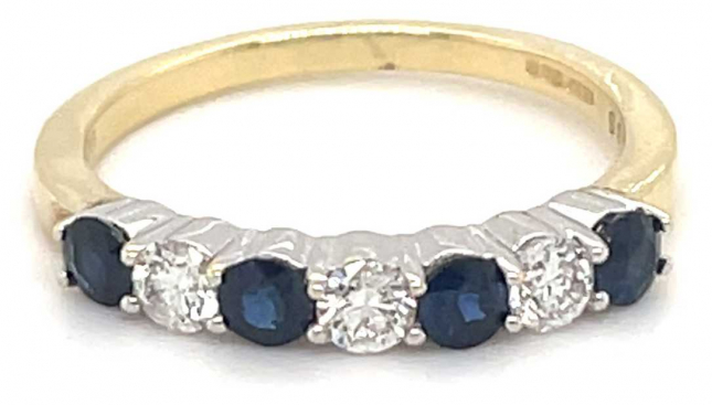 9k Yellow Gold Diamond Sapphire Ring JM4127
