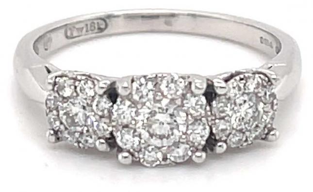 18k White Gold 0.50ct Diamond Ring JM4572