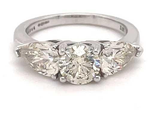 18k White Gold 3 Stone Diamond 3.00ct Ring JM9035