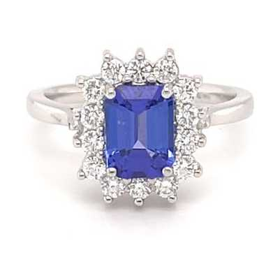 Greenspark 18k White Gold 1.57ct Tanzanite Diamond Ring MQ2404