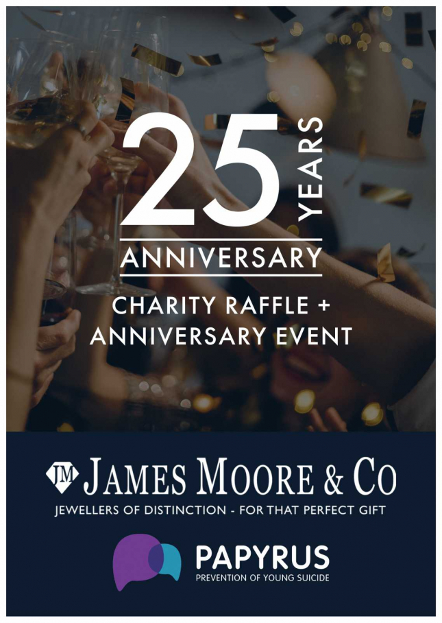 25th Anniversary Papyrus Charity Raffle Ticket (Mystery prize worth over £2000) RAFFLE-TICKET